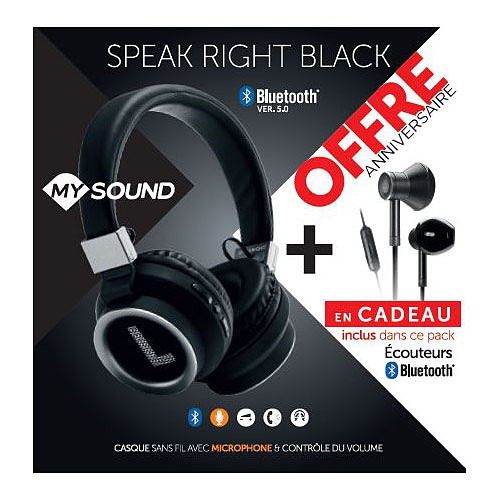 My Sound Speak Right BT + Speak Night BT offerts pas cher