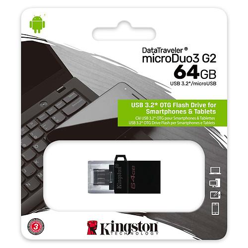 Kingston DataTraveler microDuo 3.0 G2 64 Go pas cher