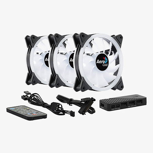 Aerocool Duo 12 Pro Pack de 3 pas cher