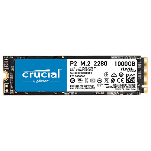 Crucial P2 M.2 PCIe NVMe 1 To pas cher