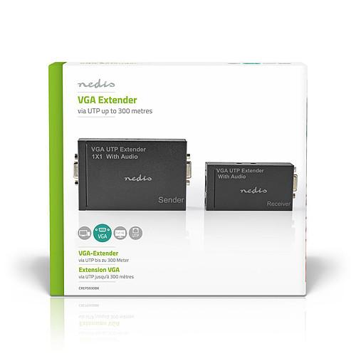 Nedis Transmetteur et récepteur VGA et Extension Audio sur Cat 5e Cat 6 jusqu'à 300 m pas cher