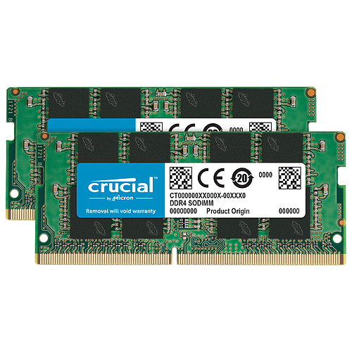 Crucial SO-DIMM DDR4 64 Go (2 x 32 Go) 2666 MHz CL19 DR X8 pas cher