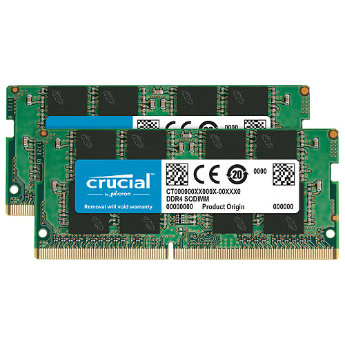 Crucial SO-DIMM DDR4 16 Go (2 x 8 Go) 2666 MHz CL19 pas cher