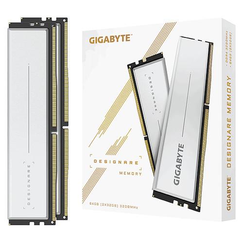 Gigabyte Designare 64 Go (2 x 32 Go) DDR4 3200 MHz CL16 pas cher
