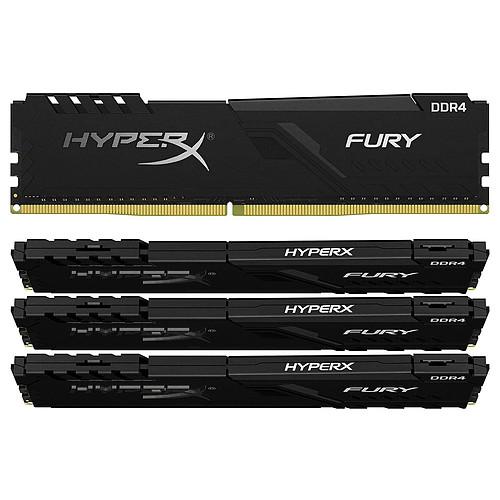 HyperX Fury 64 Go (4 x 16 Go) DDR4 2400 MHz CL15 pas cher