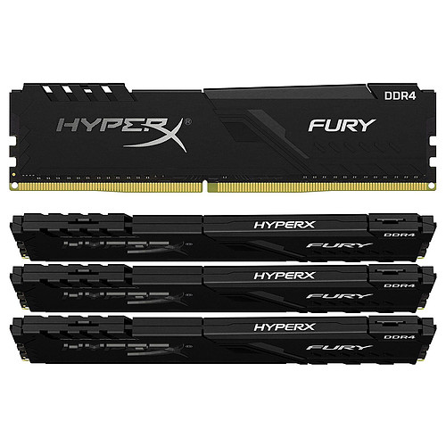 HyperX Fury 128 Go (4 x 32 Go) DDR4 3466 MHz CL17 pas cher