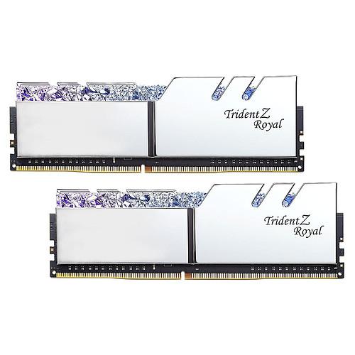 G.Skill Trident Z Royal 64 Go (2 x 32 Go) DDR4 4000 MHz CL18 - Argent pas cher