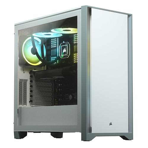 Corsair 4000D Tempered Glass (Blanc) pas cher