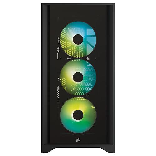 Corsair iCUE 4000X RGB Tempered Glass (Noir) pas cher