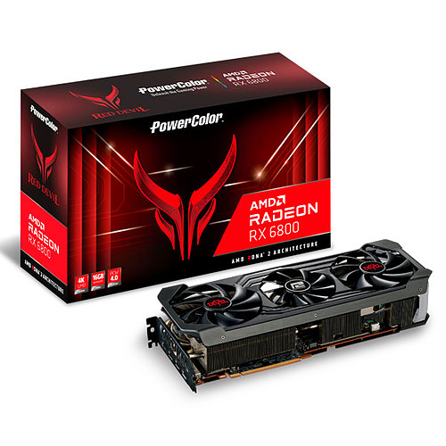 PowerColor Red Devil AMD Radeon RX 6800 16GB GDDR6 pas cher