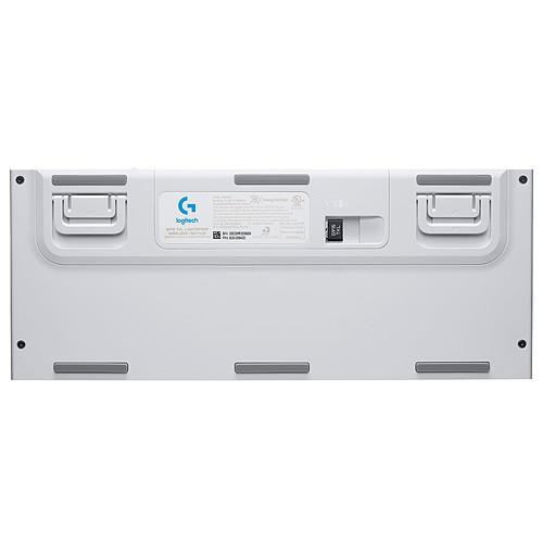 Logitech G G915 Tenkeyless Lightspeed Blanc (Tactile Version) pas cher