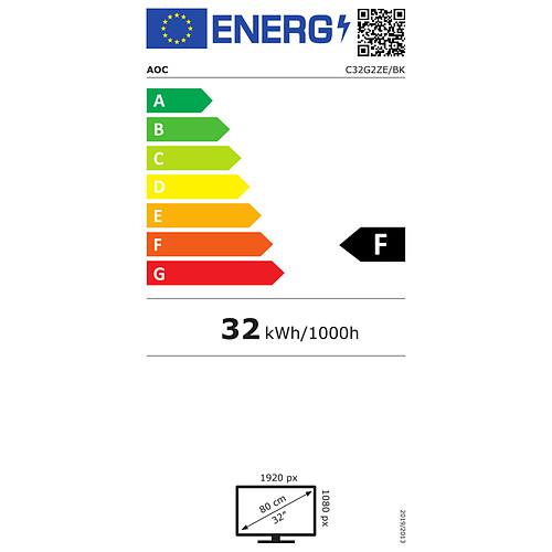 """AOC 31.5"""" LED - C32G2ZE pas cher"""