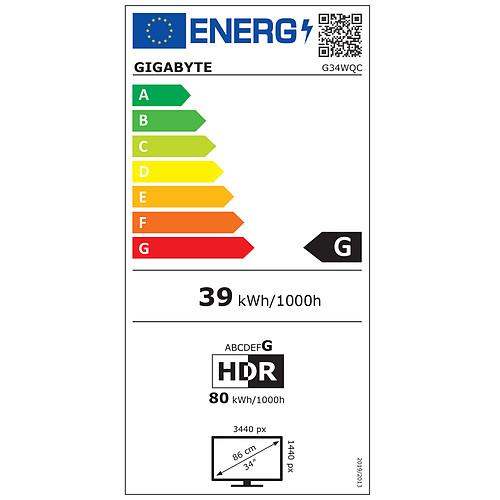 """Gigabyte 34"""" LED - G34WQC pas cher"""