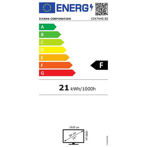 "iiyama 23.6"" LED - ProLite X2474HS-B2 pas cher"