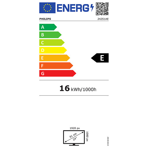 """Philips 23.8"""" LED - 242S1AE pas cher"""