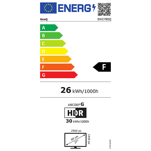 """BenQ 27"""" LED - EW2780Q pas cher"""