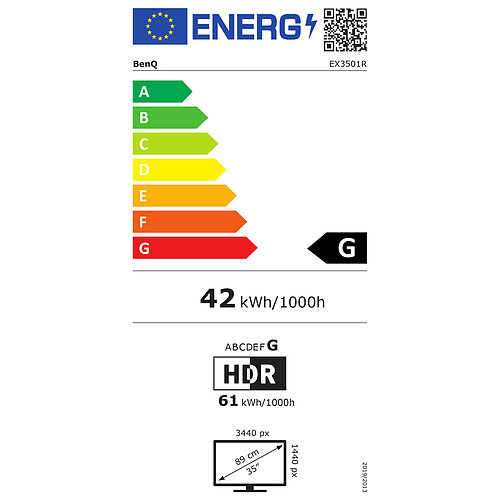 "BenQ 35"" LED - EX3501R pas cher"