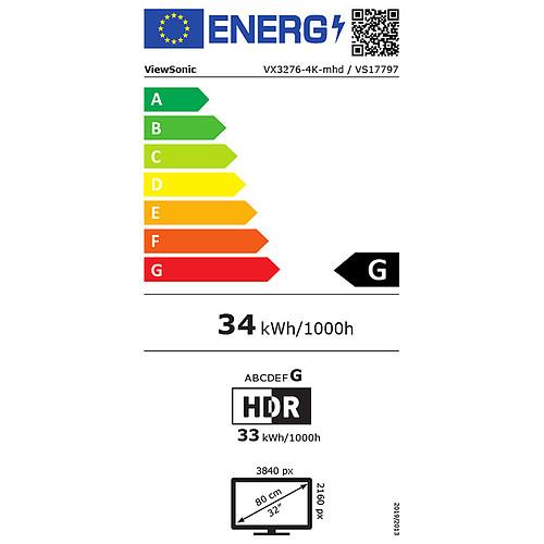 """ViewSonic 32"""" LED - VX3276-4K-MHD pas cher"""