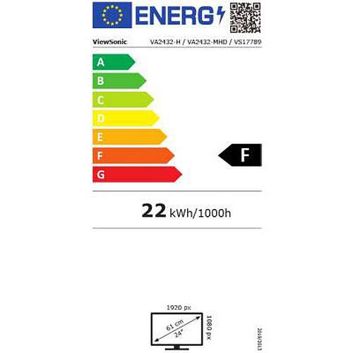 "ViewSonic 23.8"" LED - VA2432-MHD pas cher"