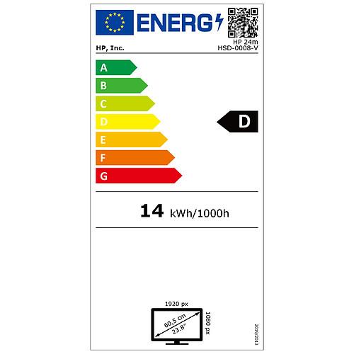 "HP 23.8"" LED - 24m pas cher"