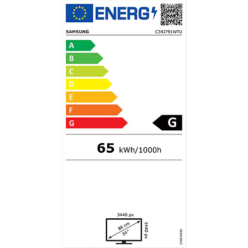 "Samsung 34"" LED - C34J791WTU pas cher"