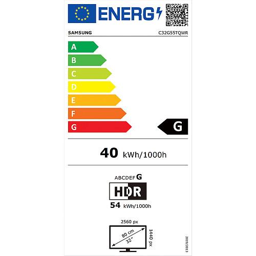 "Samsung 32"" LED - Odyssey G5 C32G55TQWR pas cher"