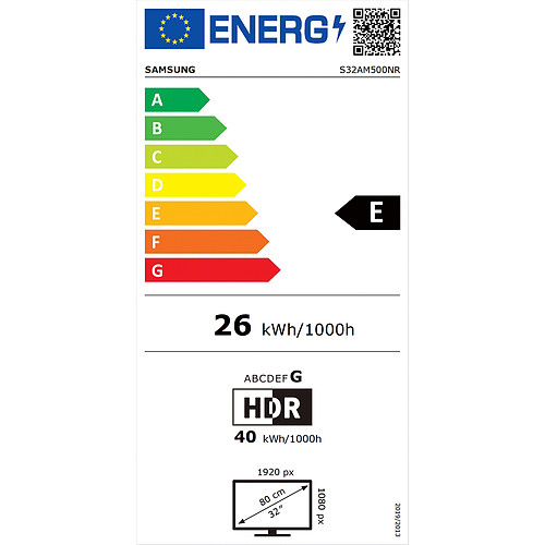 "Samsung 31.5"" LED - Smart Monitor M5 S32AM500NR pas cher"