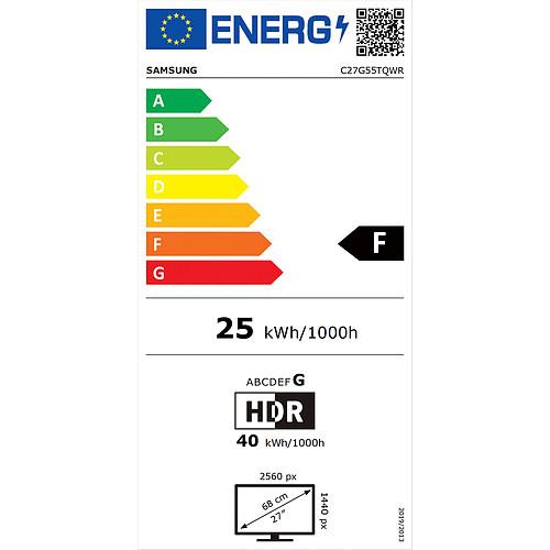 "Samsung 27"" LED - Odyssey G5 C27G55TQWR pas cher"