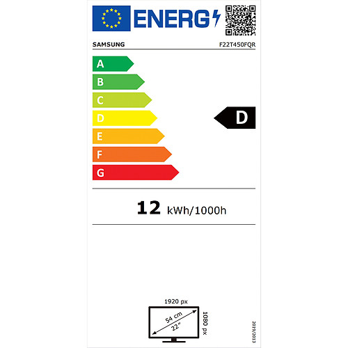 "Samsung 21.5"" LED - F22T450FQR pas cher"