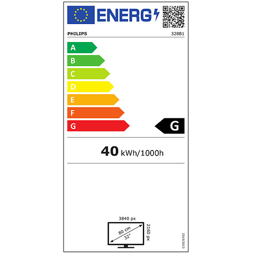 "Philips 31.5"" LED - 328B1/00 pas cher"
