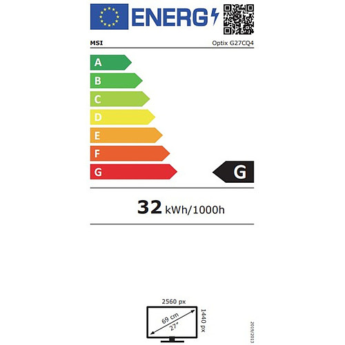 "MSI 27"" LED - Optix G27CQ4 pas cher"
