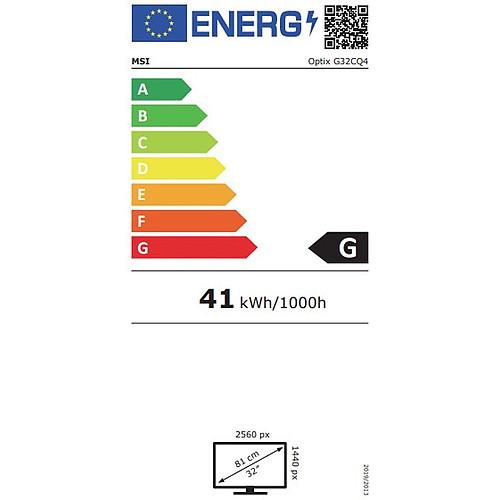 "MSI 31.5"" LED - Optix G32CQ4 pas cher"
