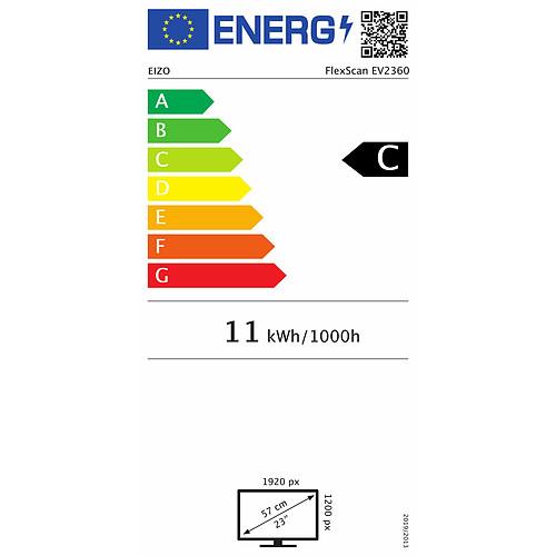 "EIZO 22.5"" LED - FlexScan EV2360 Noir pas cher"