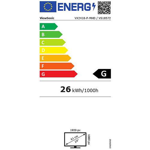 """ViewSonic 23.8"""" LED - VX2418-P-MHD pas cher"""