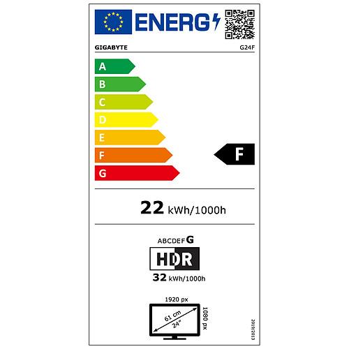 """Gigabyte 23.8"""" LED - G24F pas cher"""