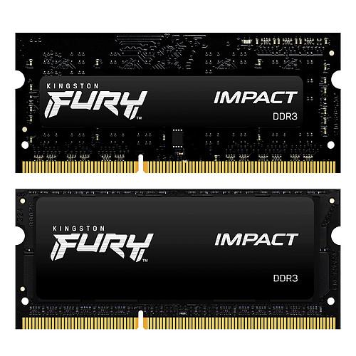 Kingston FURY Impact SO-DIMM 16 Go (2 x 8 Go) DDR3 1600 MHz CL9 pas cher