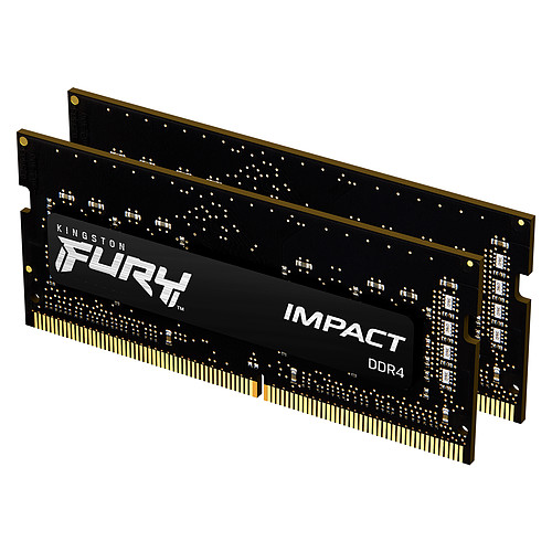 Kingston FURY Impact SO-DIMM 16 Go (2 x 8 Go) DDR4 3200 MHz CL20 pas cher