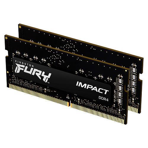 Kingston FURY Impact SO-DIMM 32 Go (2 x 16 Go) DDR4 2666 MHz CL15 pas cher