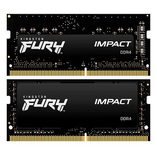 Kingston FURY Impact SO-DIMM 32 Go (2 x 16 Go) DDR4 2666 MHz CL16 pas cher