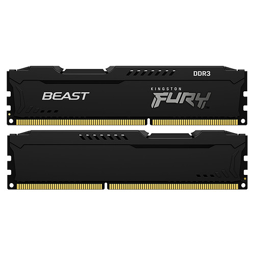Kingston FURY Beast 8 Go (2 x 4 Go) DDR3 1600 MHz CL10 pas cher