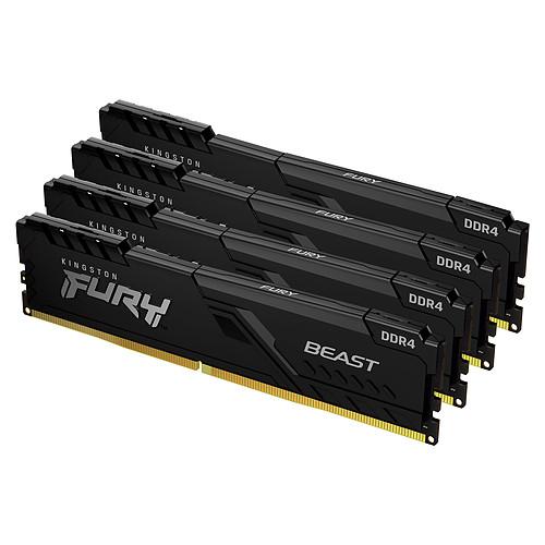 Kingston FURY Beast 64 Go (4 x 16 Go) DDR4 3000 MHz CL15 pas cher