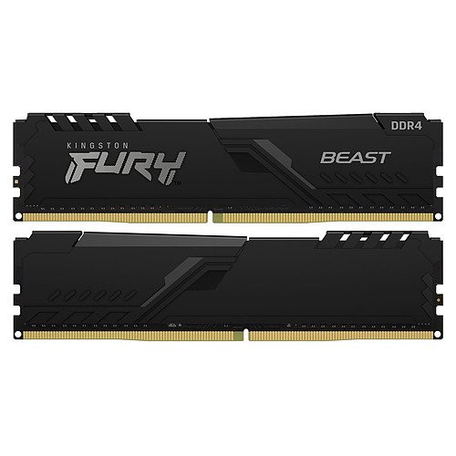 Kingston FURY Beast 128 Go (4 x 32 Go) DDR4 2666 MHz CL16 pas cher
