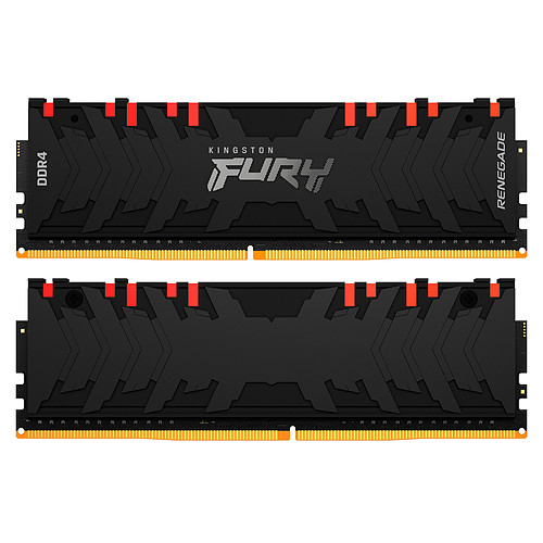 Kingston FURY Renegade RGB 64 Go (4 x 16 Go) DDR4 3200 MHz CL16 pas cher