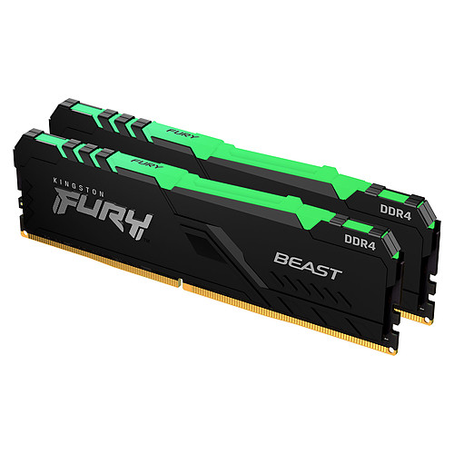 Kingston FURY Beast RGB 64 Go (2 x 32 Go) DDR4 3600 MHz CL18 pas cher