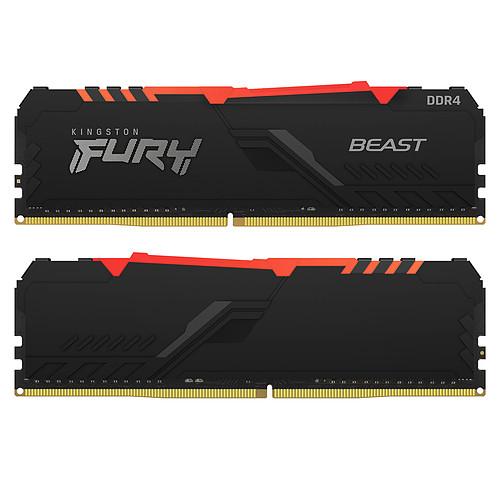 Kingston FURY Beast RGB 16 Go (2 x 8 Go) DDR4 3733 MHz CL19 pas cher