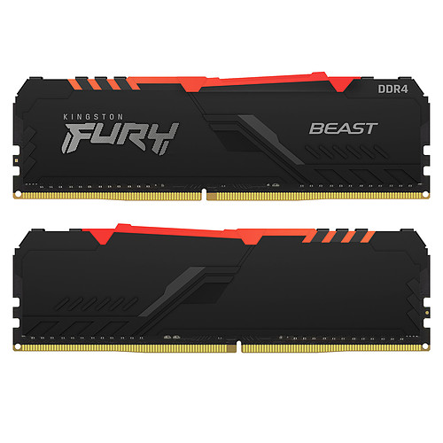 Kingston FURY Beast RGB 32 Go (2 x 16 Go) DDR4 3733 MHz CL19 pas cher