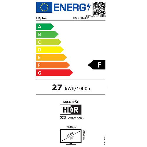 """HP 28"""" LED - U28 4K pas cher"""