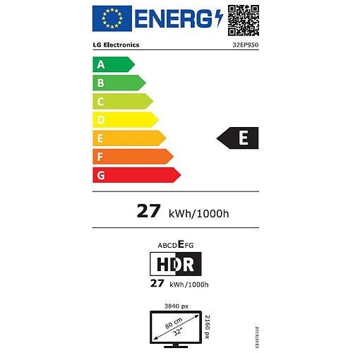 "LG 31.5"" OLED - 32EP950-B pas cher"