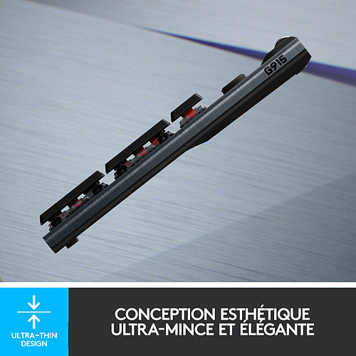Logitech G G915 Lightspeed Carbone (Tactile Version) pas cher