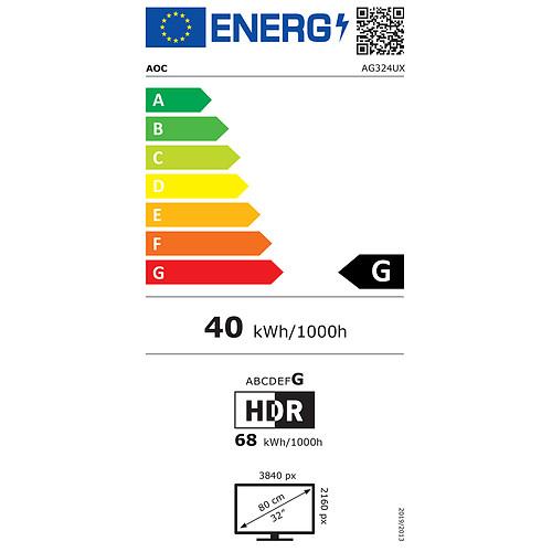 "AOC 31.5"" LED - AGON AG324UX pas cher"
